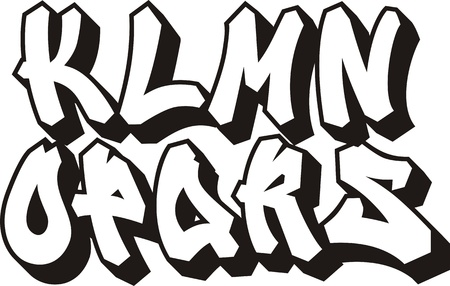 vector graffiti font alphabet  part 2   Vector