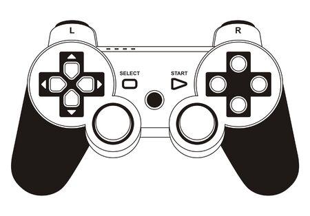 gamepad: vector gamepad joystick Illustration