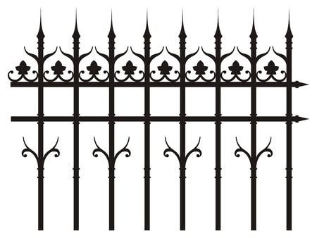 grille: vintage iron fence