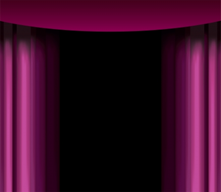 vector purple curtain