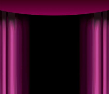 vector púrpura cortina
