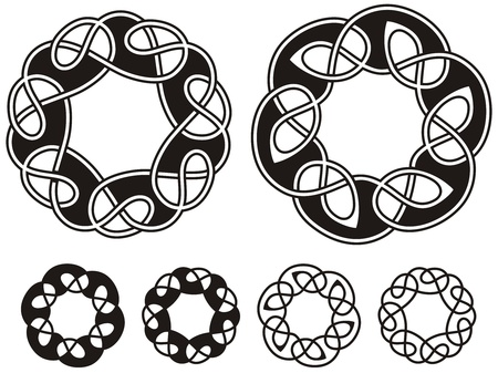 pagan cross: celtic ornamental knotwork design