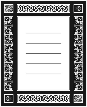 celtic ornamental knotwork blank postcard Vector