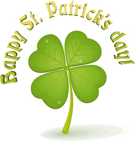 vector clover leaf  st  patrick s day  Illustration