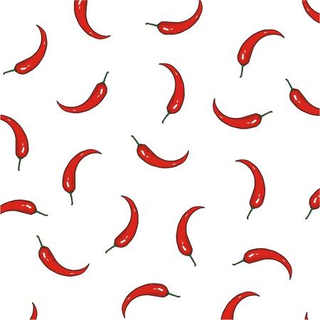 vector red pepper pattern Stock Vector - 17929533