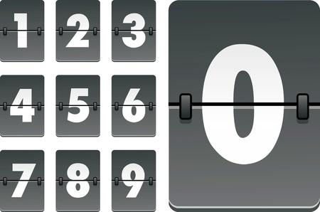 analog clock numbers Illustration
