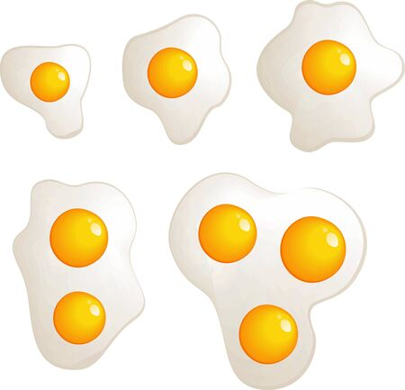 vector omelet evolution set Illustration
