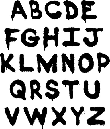 vector graffiti alphabet
