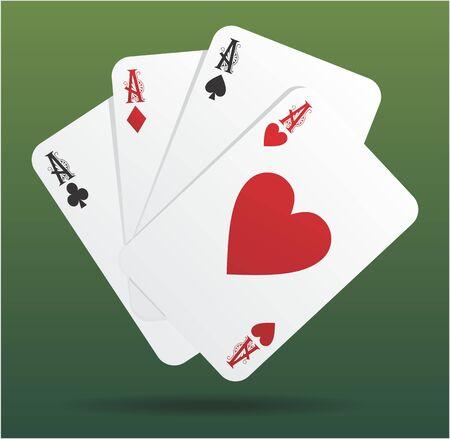 4 aces  Illustration