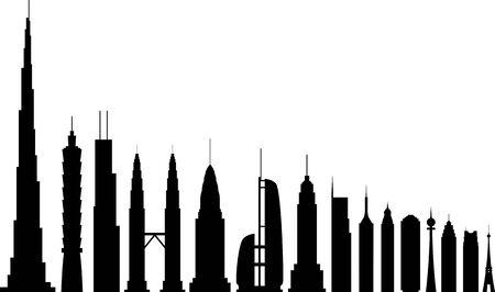 vector skyscrapers Stock Vector - 17929522