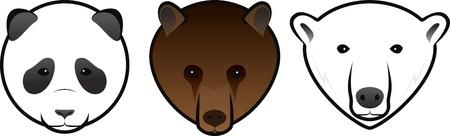 hocico: vector osos Vectores