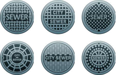 manhole covers Illustration