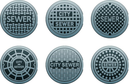 sewer: manhole covers Illustration