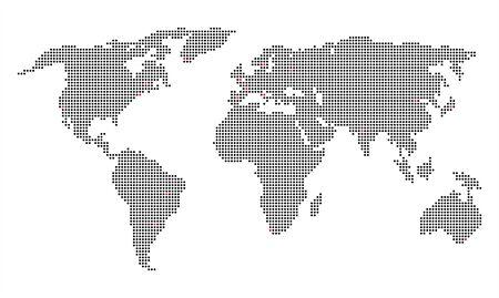 carte du monde pixelisé