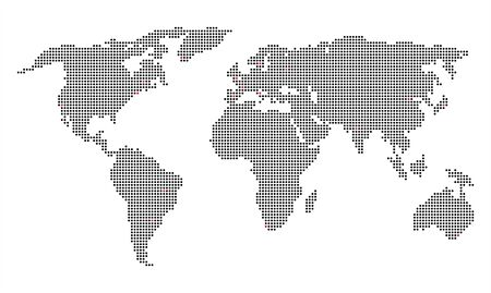 pixelated world map