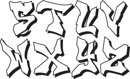 abecedario graffiti: fuentes graffiti alfabeto parte 3