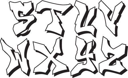 graffiti alphabet: graffiti font alphabet part 3