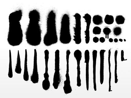 낙서 글꼴 알파벳 부분 3 일러스트
