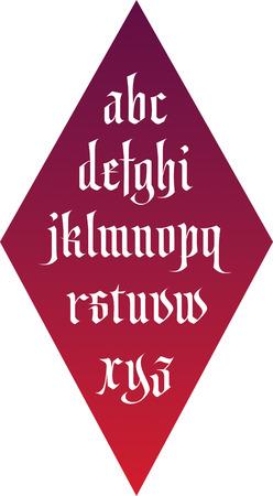 vector gothic font alphabet  Illustration