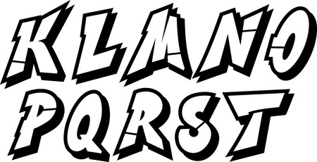 grafitis: vector de graffiti alfabeto fuente