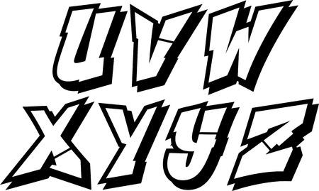 alphabet graffiti: vector de graffiti alfabeto fuente