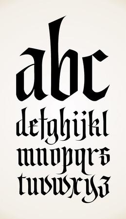 vector gothic font alphabet Vector