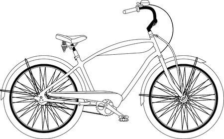bicicleta retro: Vector retro de la bicicleta