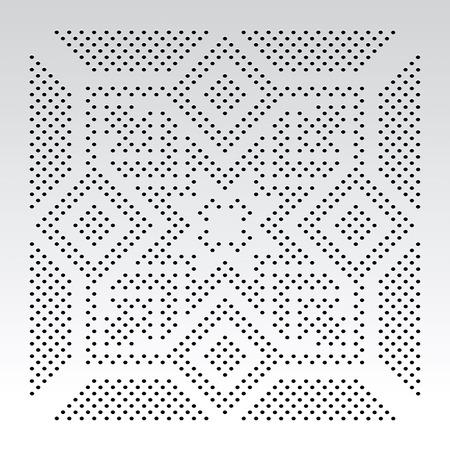 ornamental slavic dot pattern