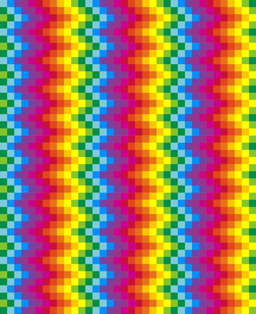 Rainbow pixel pattern. Vector