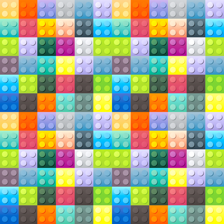 Colorful plastic brick pattern. Vector