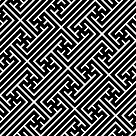 Seamless geometric swastika pattern. Vector