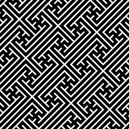 swastika: Seamless geometric swastika pattern. Vector
