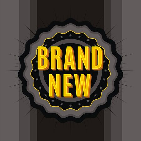 Vector brand new stamp