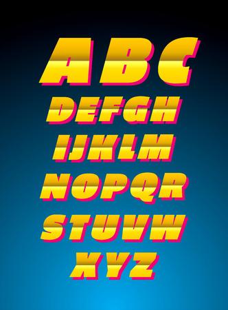 Vector alphabet. Retro style font