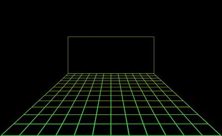 Vector disco light dance floor