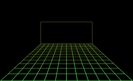 Vector disco light dance floor