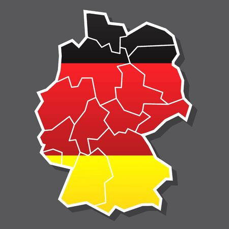 Vector map of Germany 일러스트