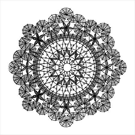 Round vintage ethnic pattern. Vector