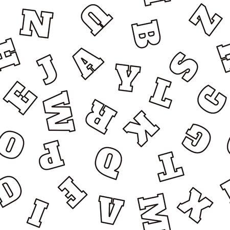 seamless pattern: Alphabet seamless pattern. Vector letters