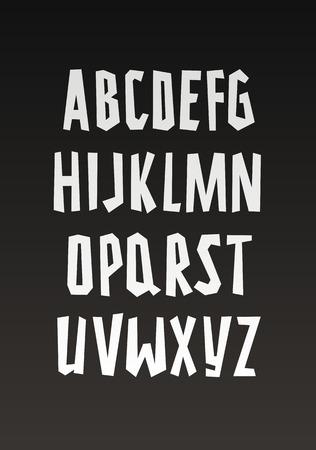Vector graffiti font. Handwritten alphabet Illustration