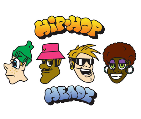 Hip-hop character set. Vector 스톡 콘텐츠 - 110810329