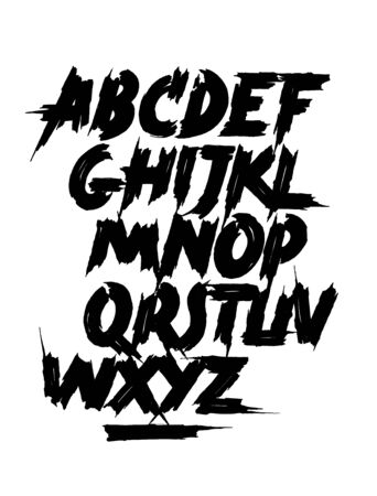 Calligraphy hand lettering brush font. Vector alphabet 스톡 콘텐츠 - 138471872