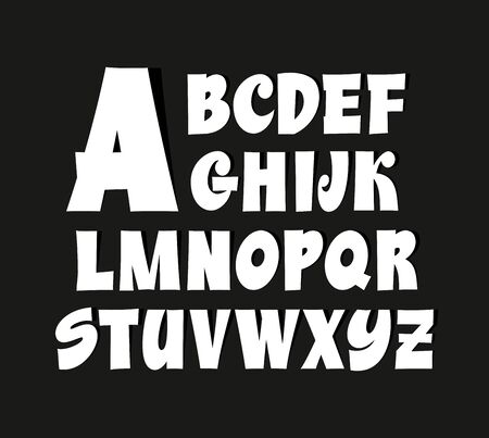 Nice retro calligraphy hand lettering font. Vector alphabet 스톡 콘텐츠 - 149791842