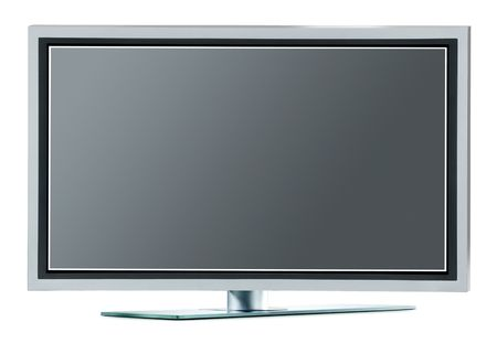 high definition: High definition plasma TV (with clipping paths) Stock Photo