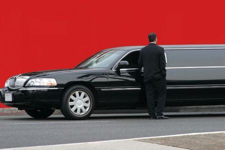 Black limousine Editorial