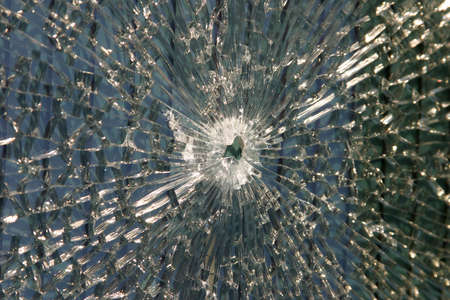 Bullet hole in the window Stock Photo - 2257697