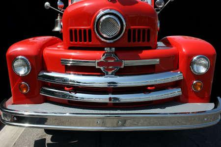 antique fire truck: Old fire truck
