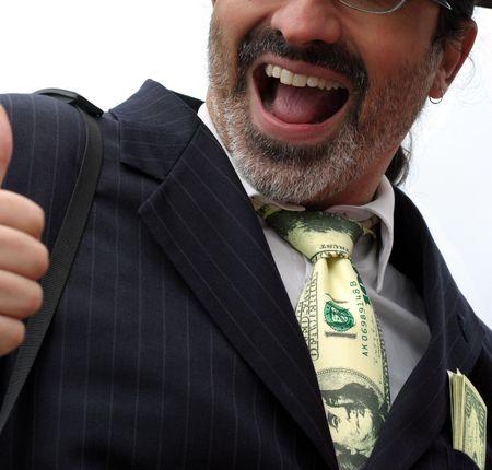 millonario: Feliz millonario sonriente  Foto de archivo