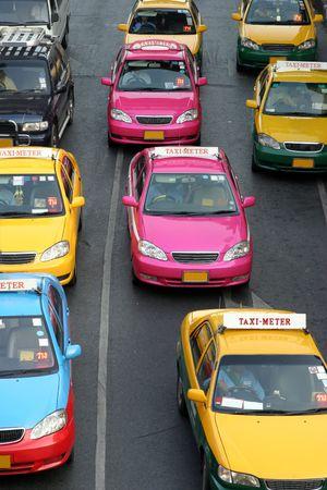 Taxi-Meter in Bangkok, Thailand Stock Photo