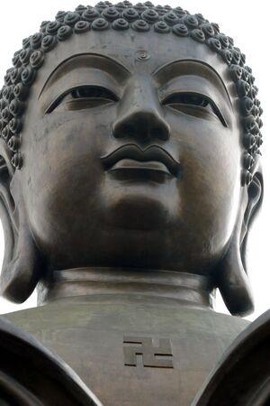 swastika: Statue of Buddha in Hong Kong